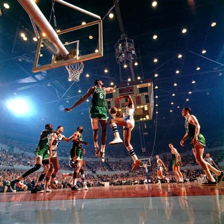 Elgin Baylor and Bill Russell, Los Angeles, CA, 1965