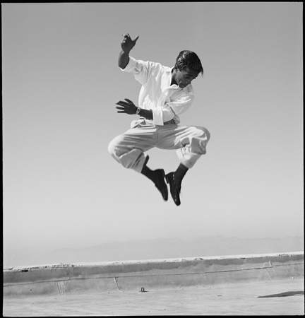 Sammy Davis Jr. Dancing on a Hollywood Rooftop, (Jumping, Feet Together), 1947
