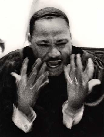 Martin Luther King, Jr., preaching at Ebenezer Baptist Church, Atlanta, Georgia, 1964