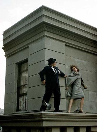 Parker on Ledge, New York, 1962