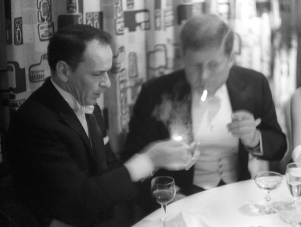 Frank Sinatra with John F. Kennedy, President's Inaugural, 1961