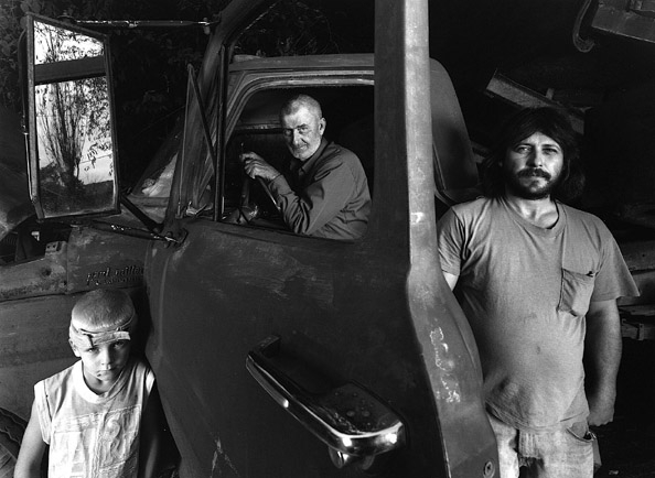 Lloyd Deane with Family & Coal Truck, 2002