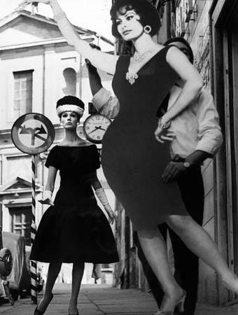 Simone and Sofia Loren, Rome (Vogue), 1969