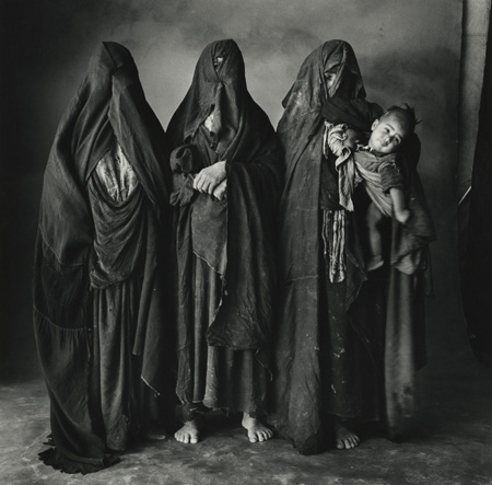 Three Moroccan Women and a Baby, Morocco, 1971