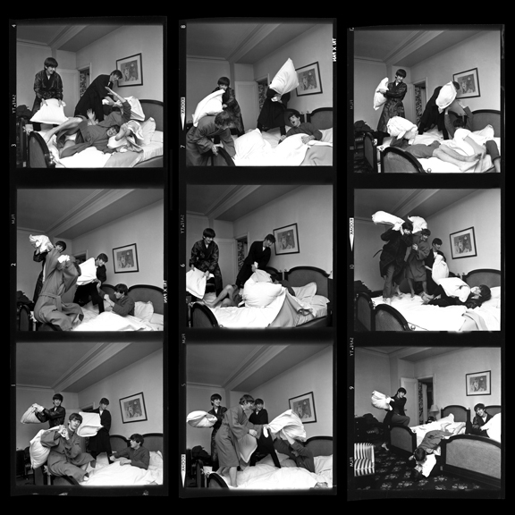 Beatles Pillow Fight, Times Nine, Contact Sheet, Paris, 1964