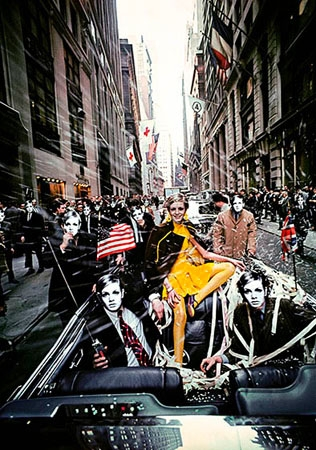 Twiggy, Tickertape Parade, New York, 1967