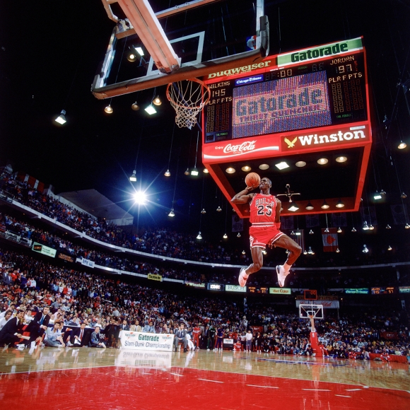 """Slam Dunk 88"" Michael Jordan, Chicago, IL, 1988"