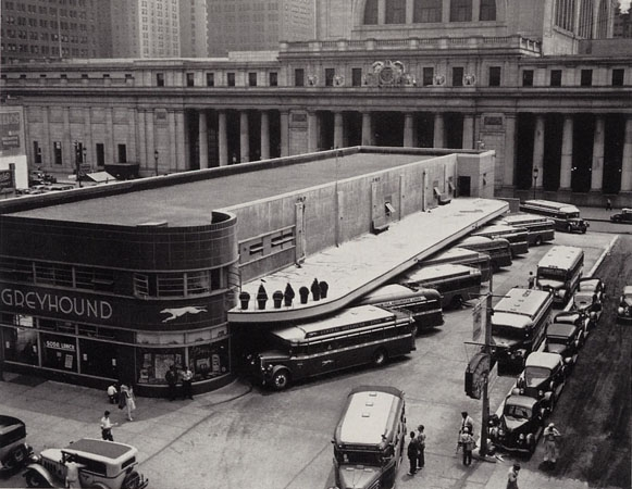 Greyhound Bus Terminal, New York, 1936