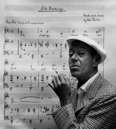 Cole Porter photographed at his Beverly Hills home for Harper's Bazaar, 1954