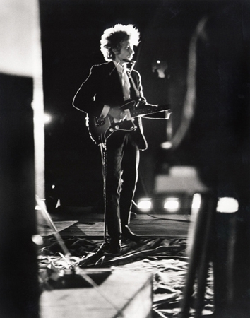 Bob Dylan Backlit on Stage, Forest Hills Stadium, NYC, 1965