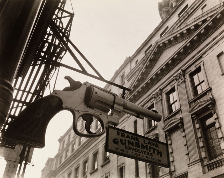 Gunsmith and Police Station, New York, 1937