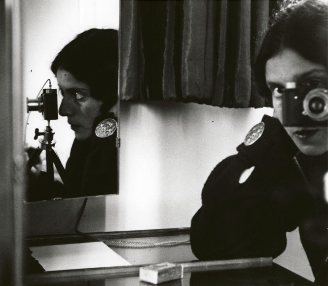 Ilse Bing Self-Portrait with Leica Paris