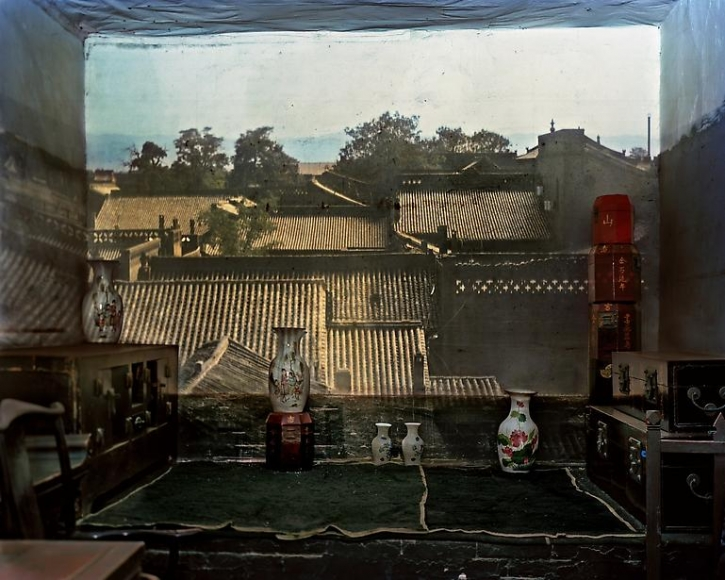 Abelardo Morell Camera Obscura View in a Second Floor Room with Vases Pingyao China