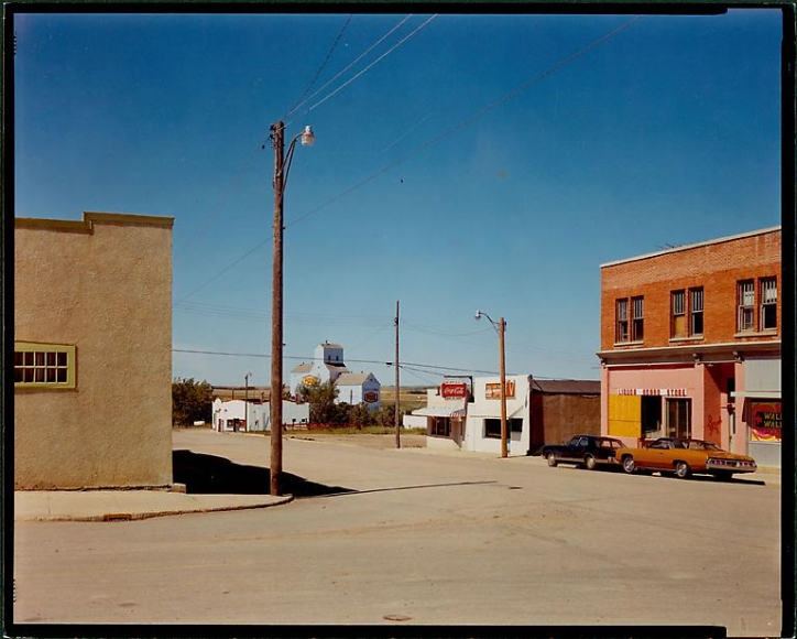 Stephen Shore Main Street Gull Lake Saskatchewan August