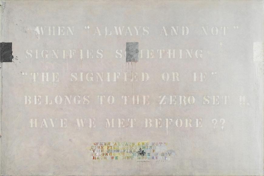 Arakawa, The Signified or If, 1973