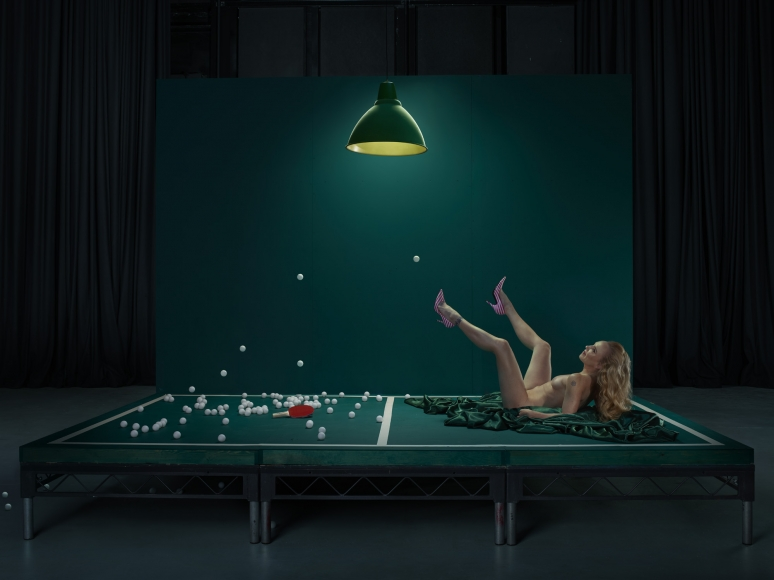 Fullerton-Batten, Mouse, Ping Pong Girl, 2016, cprint, 30x40 inches, 40x54 inches