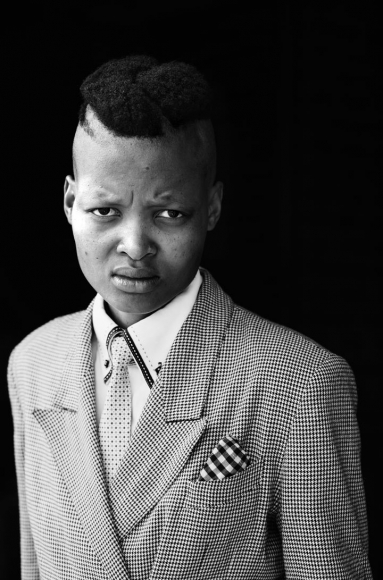 Vuyelwa Vuvu Makubetse Daveyton Johannesburg, from the series Faces & Phases, 2013, Gelatin Silver Print, 30 x 19 3/4 inches