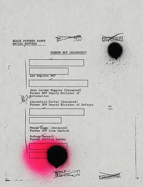 Sadie Barnette, Untitled (FBI, Former Leadership)
