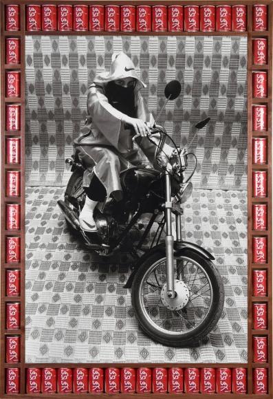 Nike Rider, 2007, metallic lambda print, 53 1/2 x 36 3/4 inches