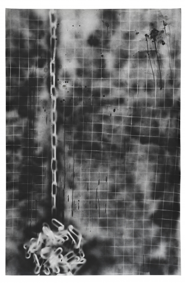 MONICA BONVICINI, Black Chain Grid #3(2020)