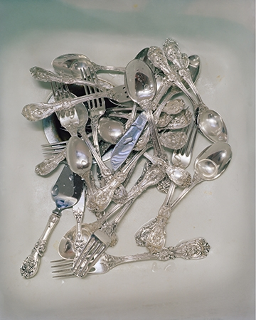 McNair Evans, Wedding Silver, 2009, Archival pigment print, 20 x 25 inches and 32 x 40 inches, Editions of 5