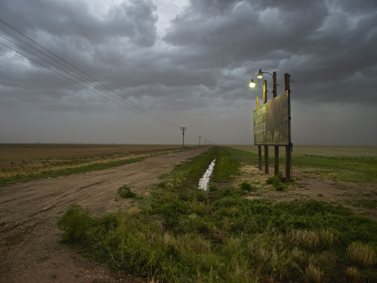 Andrew Moore, Approaching Dust Storm, Floyd County, Texas, 2013, Archival pigment print