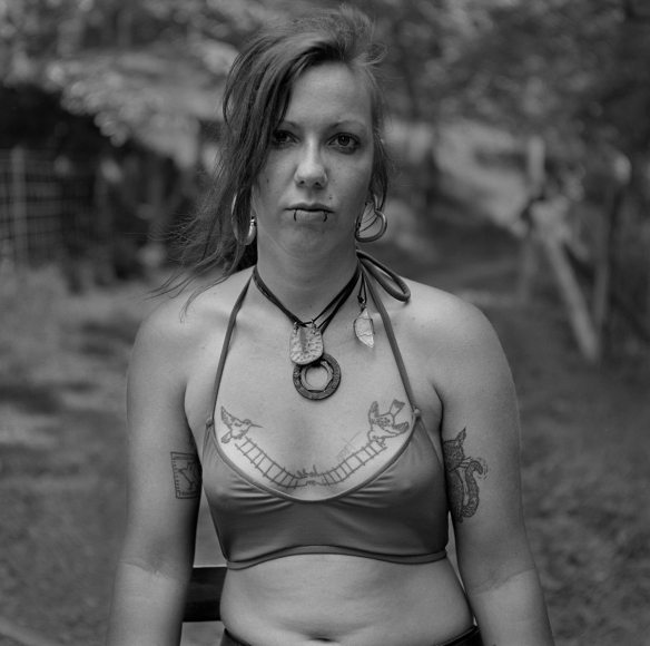 Ally, PawPaw, Madison County, NC, 2012, Archival pigment print, 5 x 5 in, Edition of 5, photography