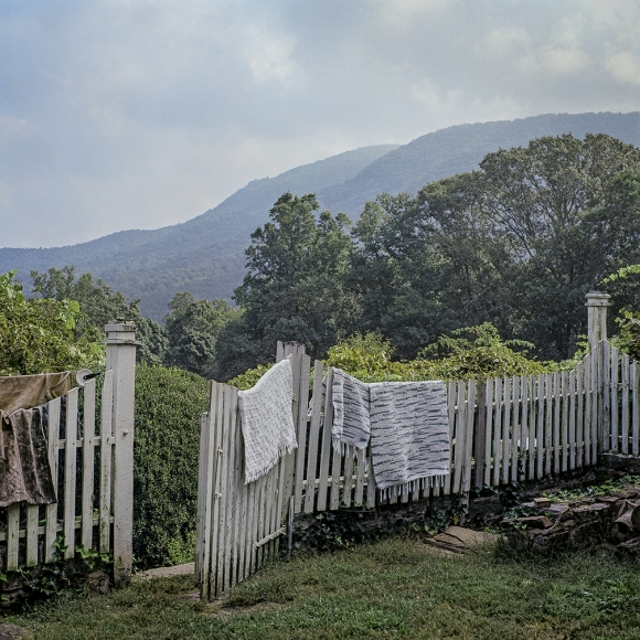 Ken Abbott, View of Little Pisgah Mountain, from the courtyard behind the Big House, Hickory Nut Gap Farm., 2005 Archival Pigment Print on cotton rag paper 15h x 15w in, Edition of 15 18h x 18w in, Edition of 10 20h x 20w in, Edition of 5, Photography