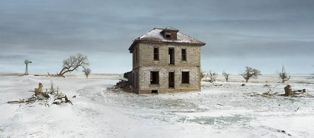 Andrew Moore, The Murray House, Sears Roebuck Rockfaced Wizard No. 52, Sheridan County, Nebraska, 2013, Archival pigment print