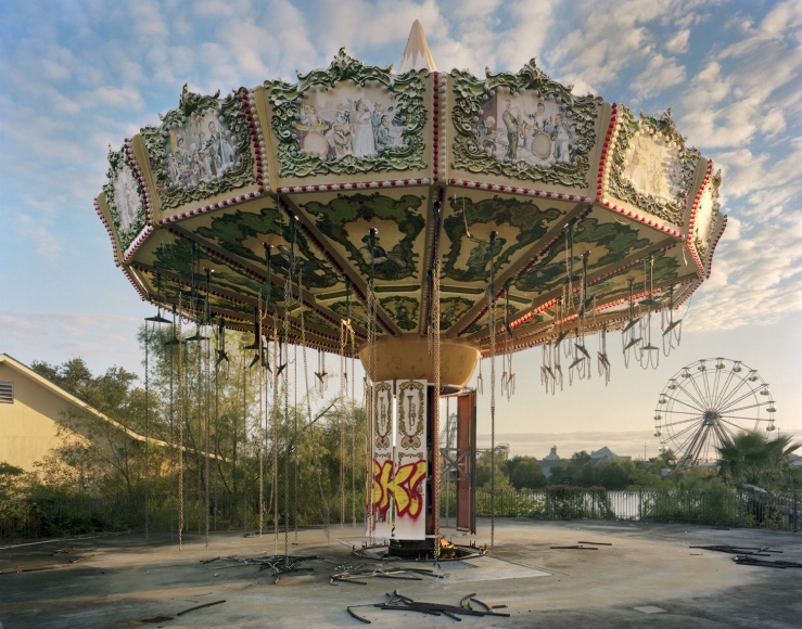 Andrew Moore, Zydeco Zinger, Six Flags, New Orleans, 2014, Archival pigment print