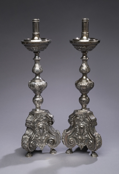 A Pair Sterling Silver Candlesticks