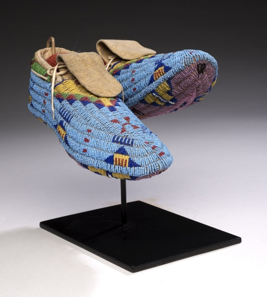 Plains Indians, Beaded Moccasins