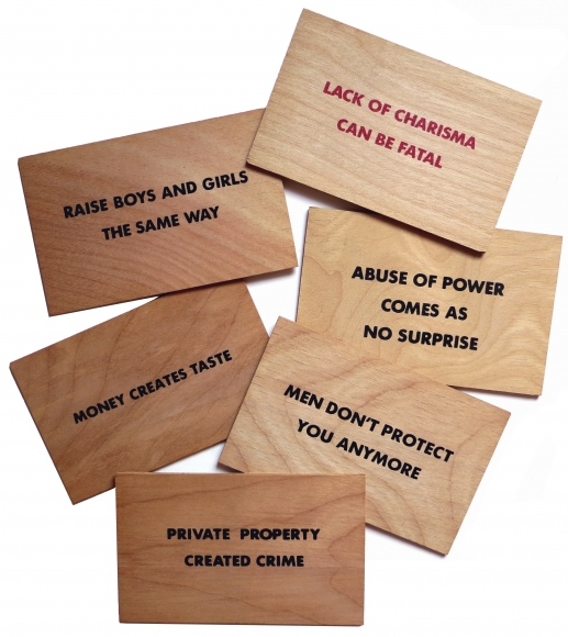 Jenny Holzer, 6 postcards from a set of 14 with Truisms from Holzer's Truisms series (1977-1979) and Survival series (1983-1985)