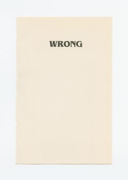 Wrong, 2012