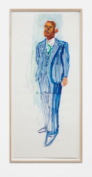 """David Hockney, """"Study for Dr. Banks' Portrait,"""" 2016"""