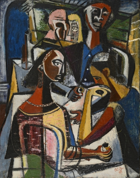 Charles Alston, Figures at a Table, 1949