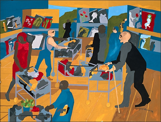 Jacob Lawrence, Supermarket - Periodicals, 1994