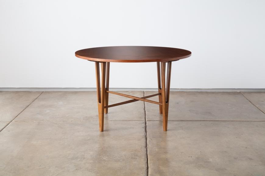 KURT ØSTERVIG, Round Side Table, Jason Møbler, Denmark, ca. 1955