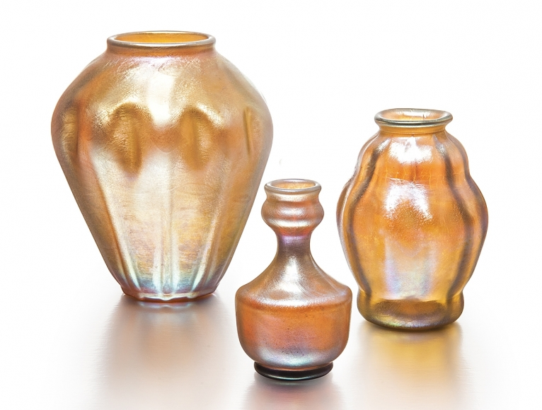 Favrile Glass Set Of Vases Collections Team Antiques