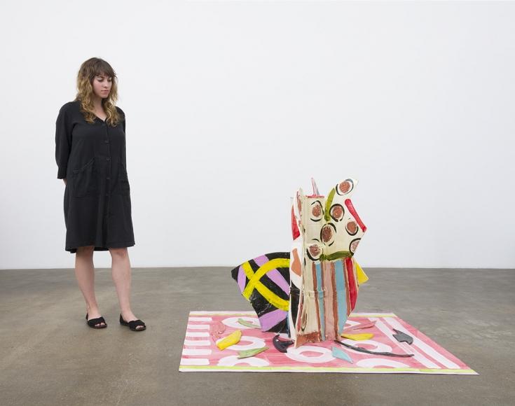 Betty Woodman, Aztec Vase and Carpet #8, 2015