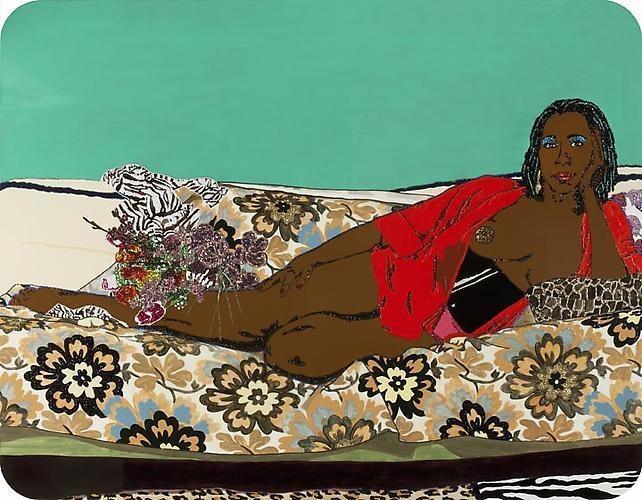 MICKALENE THOMAS Portrait of Mama Bush 2, 2010