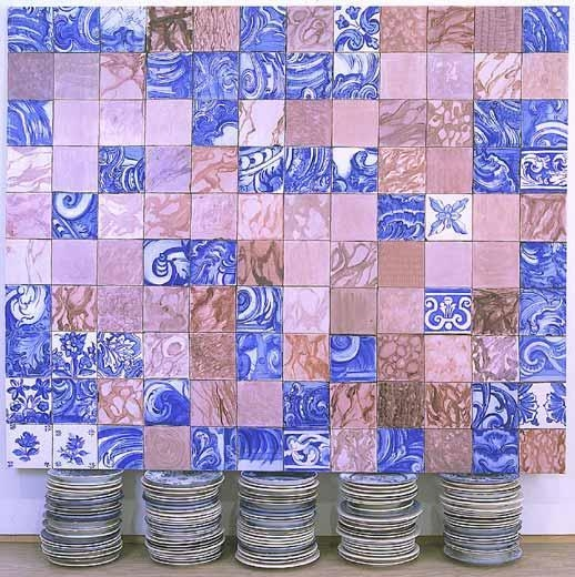 Tela Sobre Platos (Painting on Plates), 1999