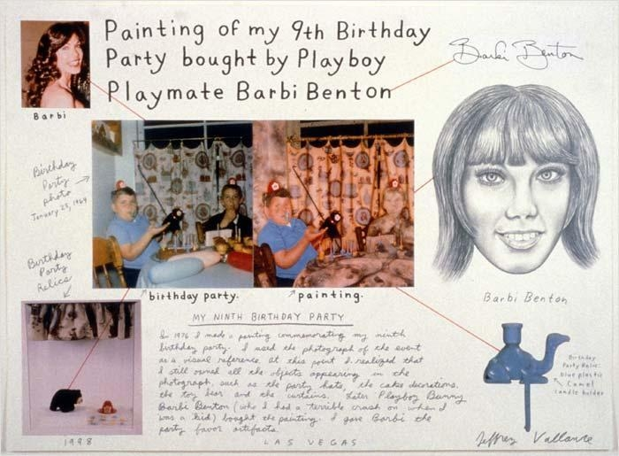 Painting of My 9th Birthday Bought by Playboy Playmate Barbi Benton, 1998