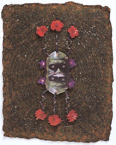 ASHLEY BICKERTON Green Reflecting Head Sam No. 3, 2006
