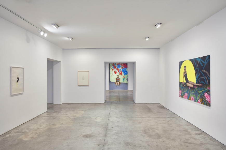 Margherita Manzelli, Bluebird, Installation view, Lehmann Maupin, New York, 2019