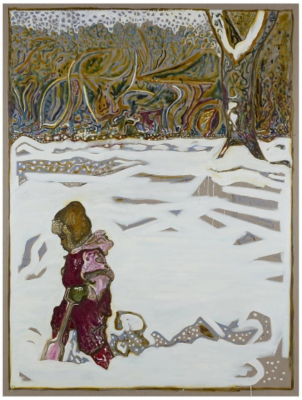 BILLY CHILDISH Girl in Snow with Tree (Scout) (Version X), 2012