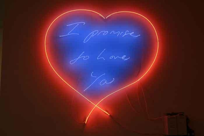 TRACEY EMIN I promise to love you, 2008