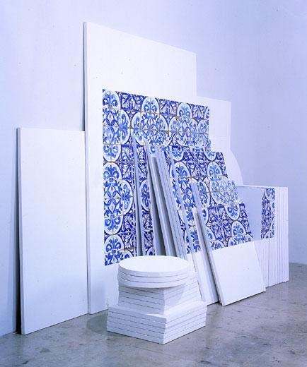Azulejaria 'de Tapete' sobre Telas (Carpet-Style Tilework on Canvases), 1999