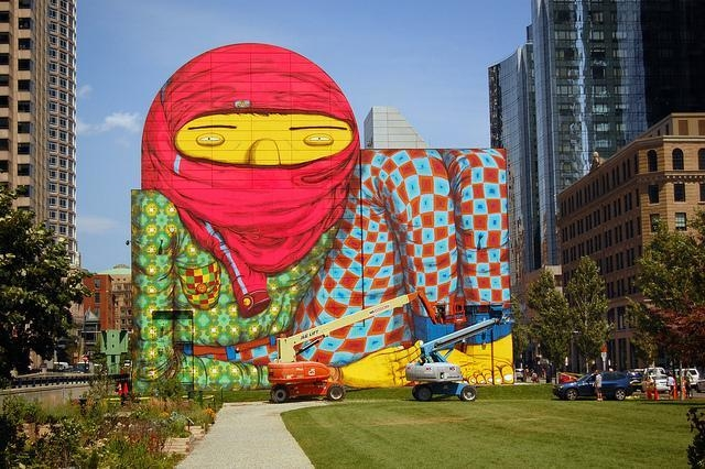 OSGEMEOS, Giant Dewey Square, Boston