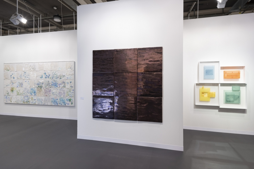 Lehmann Maupin Art Basel 2019 booth, installation view, perspective 3
